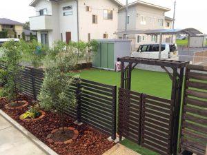 庭のイメージチェンジ埼玉子供外遊びできる庭