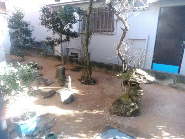 固まる土施工と庭木の抜根/板橋区