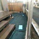 人工芝の施工作業/上尾市