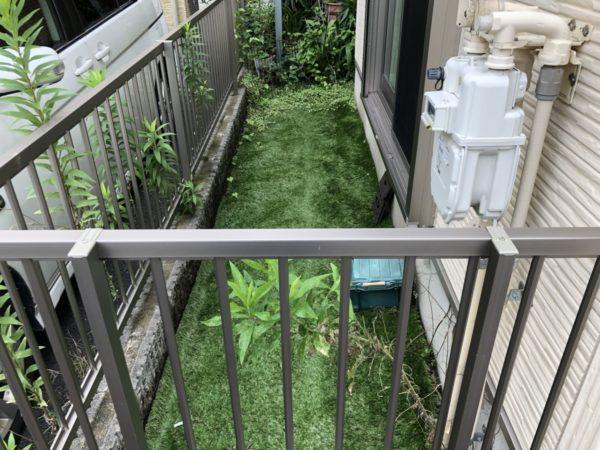 7.24 お庭の人工芝を剥がして清掃、整地して貼り直し 江戸川区