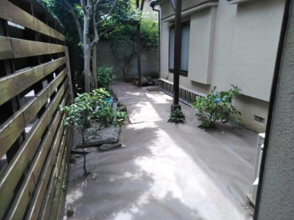文京区草刈り防草シート