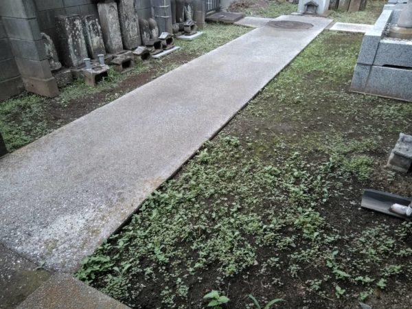 上尾市墓地草取り除草剤散布