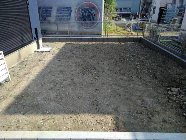10.2さいたま市岩槻区庭の土壌改良
