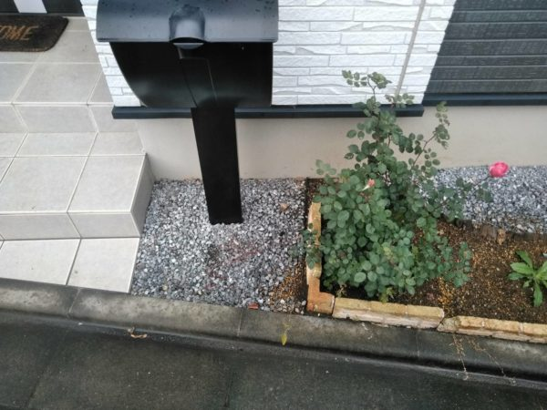 11.27和光市 花壇 固まる土施工