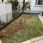芝生の張り替え・芝生の補植・芝生のお手入れ/東京都小平市