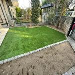 【お庭のリフォーム】天然芝から人工芝に張替え、平板ステップ、花壇設置、砂利入れ、ハナミズキ剪定等/さいたま市大宮区