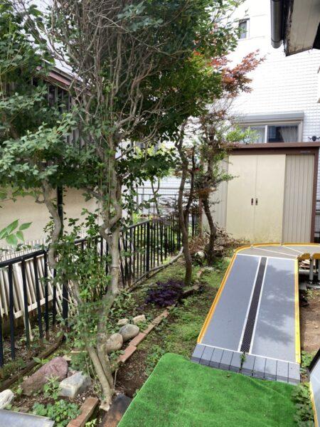 伐採作業・藤棚と花壇や石の撤去/埼玉県桶川市