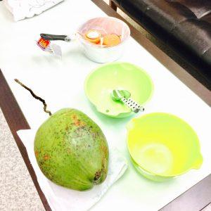 手作りキャンドル作り方ヤシの実ココナッツで
