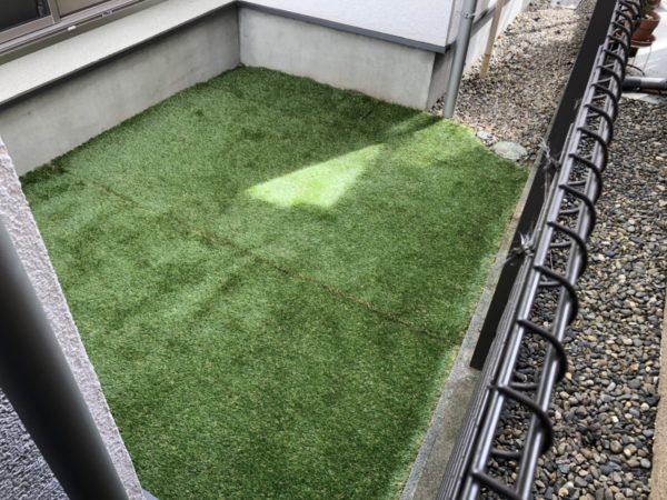 人工芝のお庭にリフォーム/品川区