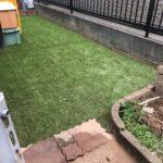 人工芝と固まる土、砂利で防草対策プチリフォーム/さいたま市