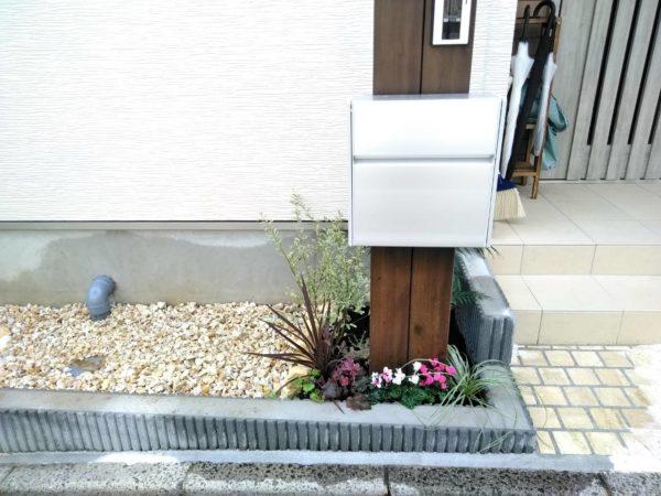 花壇への草花植え、砂利入れ/さいたま市