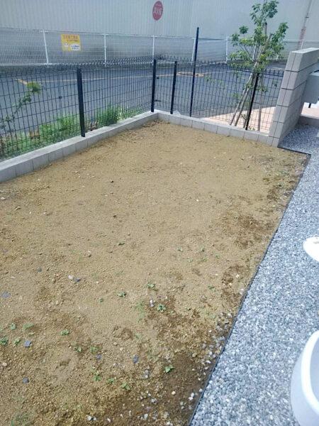 人工芝の施工/埼玉県桶川市