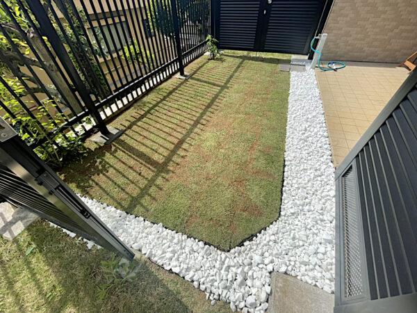 【芝生の張り替え】芝生を高麗芝からTM9に張り替える作業/東京都豊島区